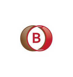 B letter circle logo vector