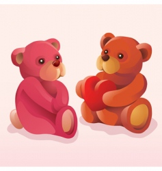 Teddy bears in love vector