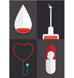 Blood syringe vector