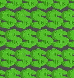 Dollar seamless pattern green dollar background vector
