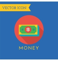 Money icons set shop money or commerce vector