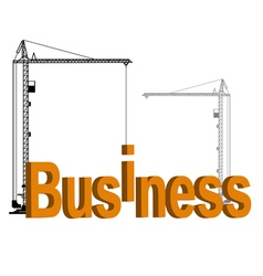 Business building vector