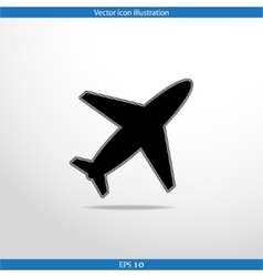Plane web icon vector