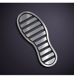 Flat metallic logo footprints vector