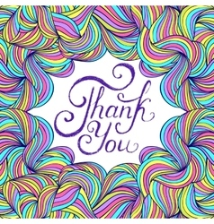 colorful thank you card vector image