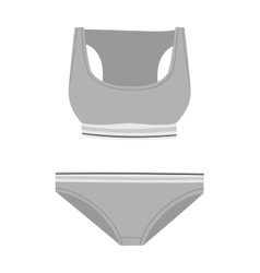 Underwear silhouette isolated set vector