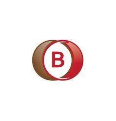 b letter circle logo vector image