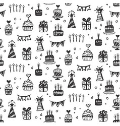 birthday party seamless patterns vector image vector image