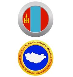 Button as a symbol mongolia vector