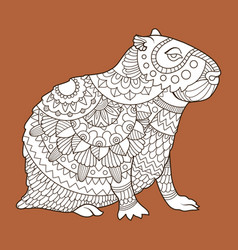 Capybara fashion vector