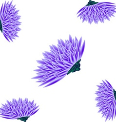 Card with asters vector