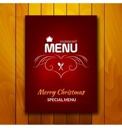 Christmas holiday restaurant menu vector image vector image