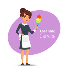 cleaning service woman vector image