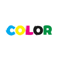 color paint logo vector image vector image