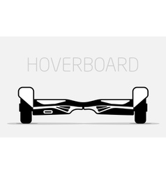 Electric two wheels balance board hoverboard vector