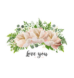 Flower bouquet design element peach pink rose vector