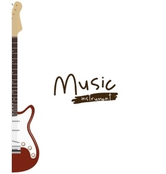guitar electric isolated icon design vector image vector image