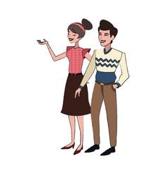 Happy couple icon vector