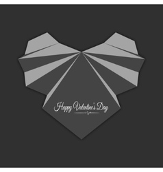 Happy valentines day Abstract grey heart vector image