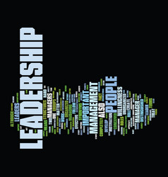 leadership wisdom of the ages text background vector image