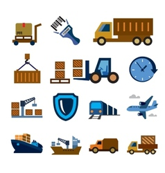 logistic and shipping vector image vector image
