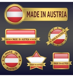 made in Austria vector image vector image