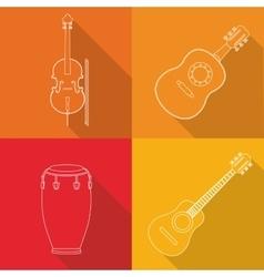 Music instrument design vector