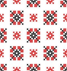 Seamless texture with red black abstract patterns vector image