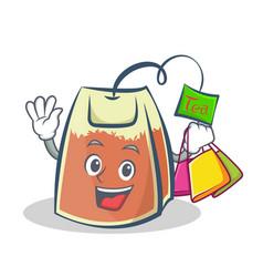 Shopping tea bag character cartoon vector