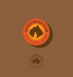 Sport dog club logo vector