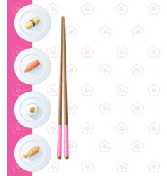 sushi plates vector image vector image