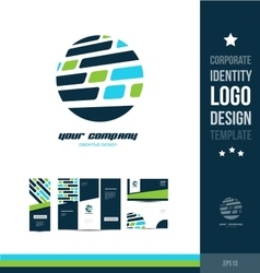 Corporate identity circle blue logo vector