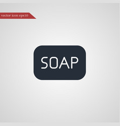 Soap icon simple vector