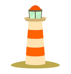 Lighthouse icon cartoon style vector