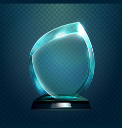Sport trophy or transparent achievement sign vector