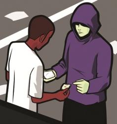 drug deal vector image