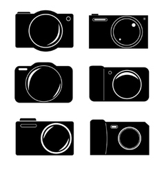 Camera icon set vector