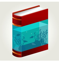 Book aquarium vector