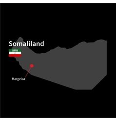Detailed map of somaliland and capital city vector