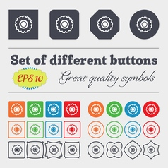 Cogwheel icon sign big set of colorful diverse vector