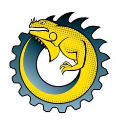 iguana gear logo vector image