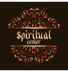 Spiritual center logo mandala vector