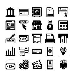 Banking and finance line icons 1 vector