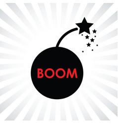 boom bomb icon vector image vector image