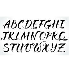 brushpen lettering alphabet vector image