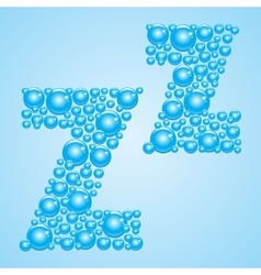 Bubbles in blue Alphabet of bubbles Eps 10 vector image