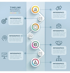 Business timeline infographics template vector image vector image