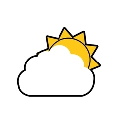cloud sun weather sky season icon graphic vector image vector image