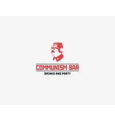 Communism style logo restaurant bar vector