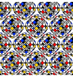 Design seamless colorful mosaic geometric pattern vector